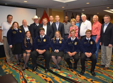 FFA STARS VISIT WITH SOUTHERN AGRICULTURE COMMISIONERS